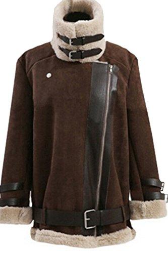 Les Femmes De L'hiver À Manches Longues Et Un Épaississement Extérieur De La Tenue Occasionnelle Veste De Taille brown