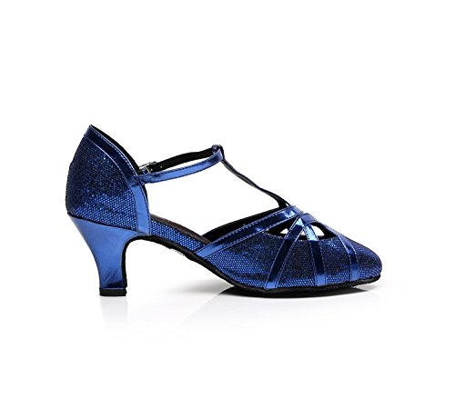Minitoo , Chaussures de danse pour homme Blue-6cm Heel