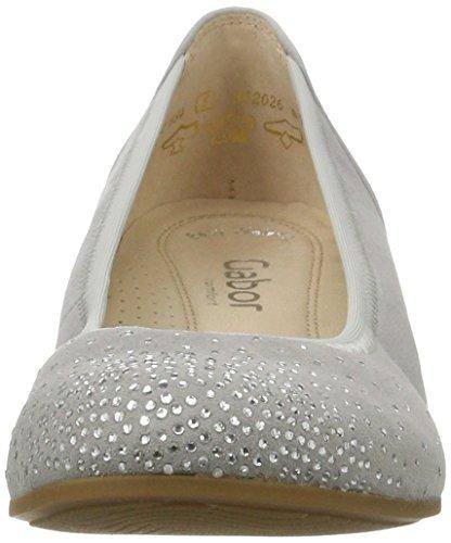 Gabor Comfort, Ballerines Femme Gris (light grey 40)