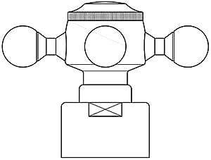 Oventrop - Poignees manuelle MADISON serie E chrome 1168152