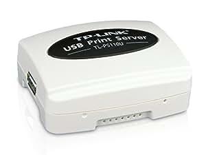 TP-Link TL-PS110U Single USB2.0 Port Fast Ethernet Print Server (White)