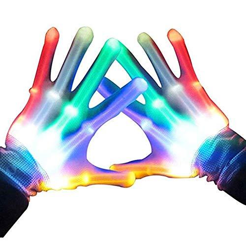 Longzhuo LED Leuchtende Handschuhe,Kinder MäDchen Junge Bunte