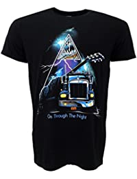 Def Leppard On Through The Night Black T-Shirt Official Licensed Music
