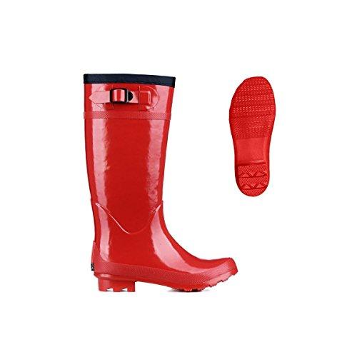 Superga 792 Regen Stiefel Neu Frauen Schuhe Rot