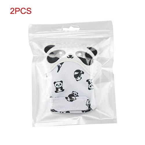 Carremark Silikon Baby Beißring Kinderkrankheiten Panda Handschuh Palm Daumen Kautable Spielzeug Neugeborenen BPA Frei Handschuh