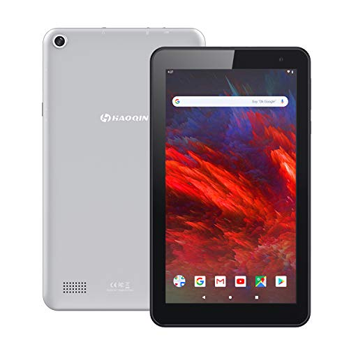 Tablette 7 Pouces Tactile Android 9.0 - HAOQIN H7 Quad-Core 16Go ROM, Écran HD IPS, Dual Caméra,WiFi, Bluetooth, FM,Certifié par Google GMS (Gris)