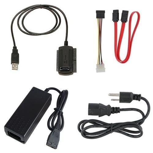 JX2 SATA/PATA/IDE-Laufwerk auf USB 2.0 Adapterkabel für Festplatte HDD 6,35 cm (3,5 Zoll), kompatibel mit USB 1.1/2.0/3.0, mit externem AC-Netzteil im Lieferumfang enthalten - Pata-laufwerke