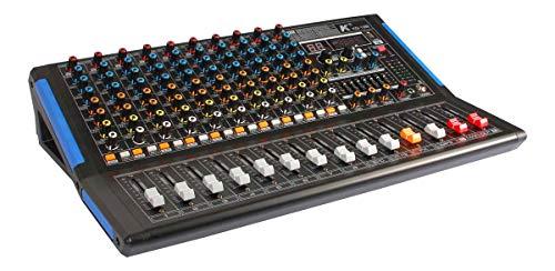 K kg-12b mixer 12canali con scheda audio integrata, effetti, Bluetooth e lettore MP3