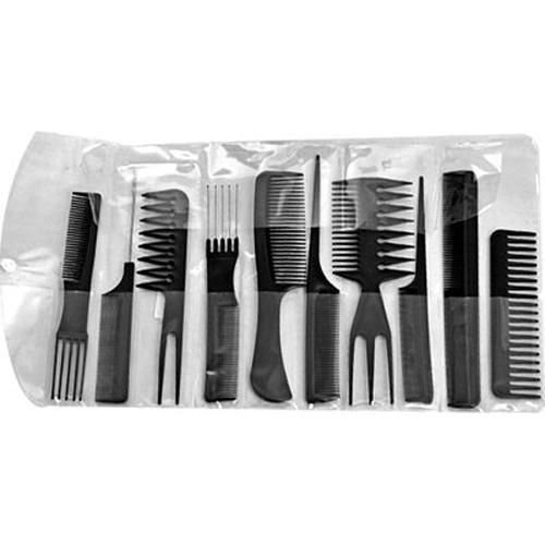 Kit 10 pettini pettine professionale per parrucchiere