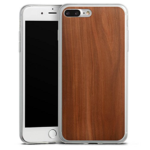 Apple iPhone 8 Slim Case Silikon Hülle Schutzhülle Kastanie Holz Look Silikon Slim Case transparent
