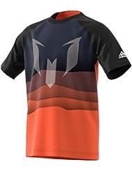 adidas Yb Messi Grap T, Camiseta Para Niños, Blanco (Narene/Blanco), 128