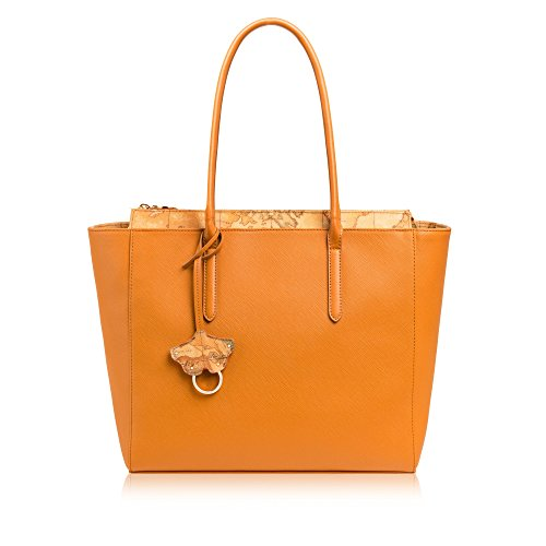 Alviero Martini 1A Classe City Bloom shopping bag medium orange
