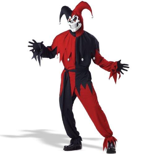 Costume halloween / carnevale da jolly demoniaco giullare medievale – uomo small
