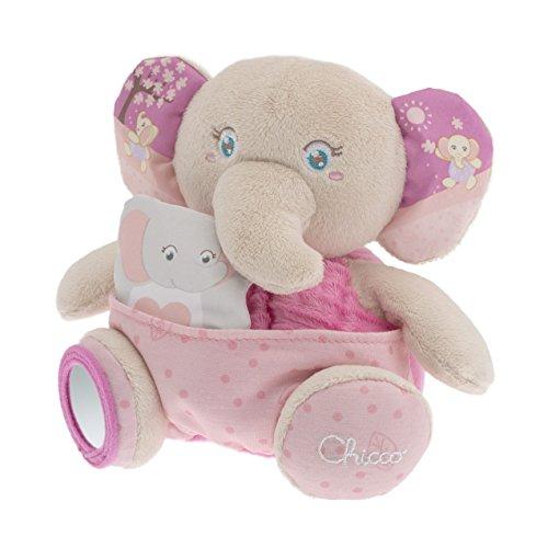 Chicco 7707 - soft cuddles pupazzo, elefante, rosa