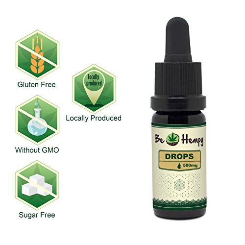 5% BeHempy Hemp Seed Oil, Natural Oil, 500mg Full Spect, Local UK Research & Development Team and Swiss Quality Production, Highest GMP Standard (500mg)
