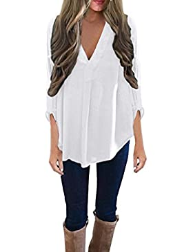 ISASSY - Camisas - camisa - Clásico - Manga Larga - para mujer