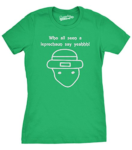 Crazy Dog TShirts - Who All Seen A Leprechaun Funny Saint Patricks...