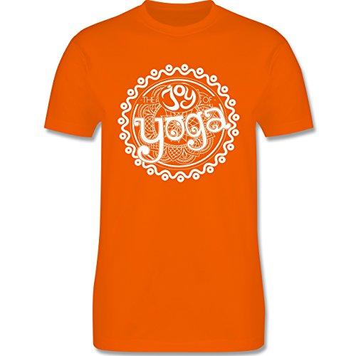 Wellness, Yoga & Co. - The joy of yoga - Herren Premium T-Shirt Orange