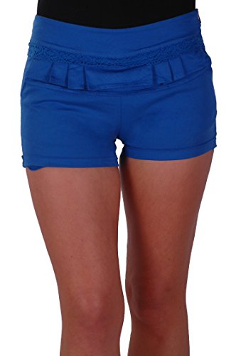 EyeCatch - Short moulants slim en coton - Femme Bleu Royal