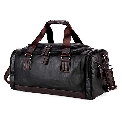 NOBIE, Reisetaschen, Handtaschen, Kuriertaschen, übergroßes Gepäck, Geeignet Für Fitness Taschen Usw,Black,47cm*24cm*23cm