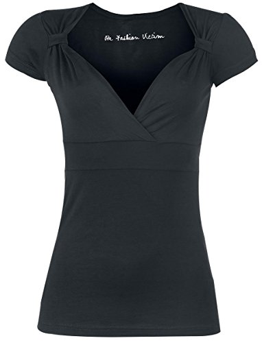 Fashion Victim Fashion V-Top Maglia donna nero M