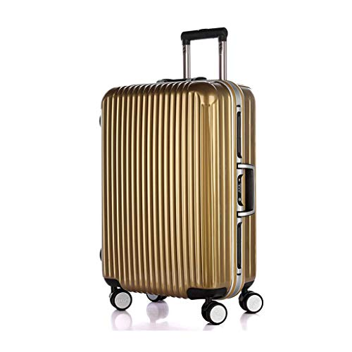 FANFA Wanxiang Rad Aluminiumrahmen Koffer Vintage Zugstange Koffer Boarding Passwort Koffer,Gold,20 (Gold-koffer Vintage)