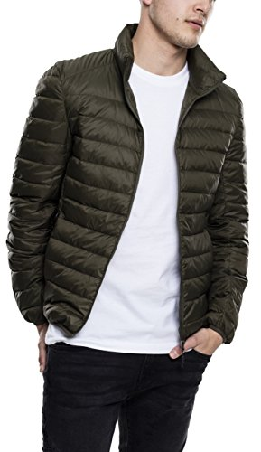 Urban Classics Herren Jacke Basic Jacket, Grün (Darkolive), Medium