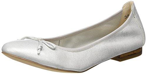 Caprice Damen 22102 Geschlossene Ballerinas Silber (SILVER METAL.)