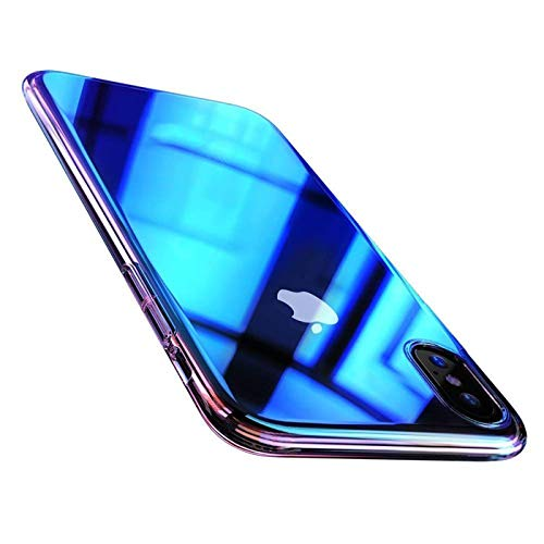 Verco Farbwechsel Hülle für Huawei Mate 10 Lite, Schutzhülle Handy Cover mit Farbverlauf Slim Case, Blau