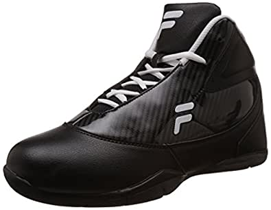 Fila Men's Point Field Black and White Basketball Shoes -10 UK/India (44 EU)