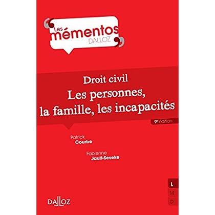 Droit civil. Les personnes, la famille, les incapacités - 9e éd.
