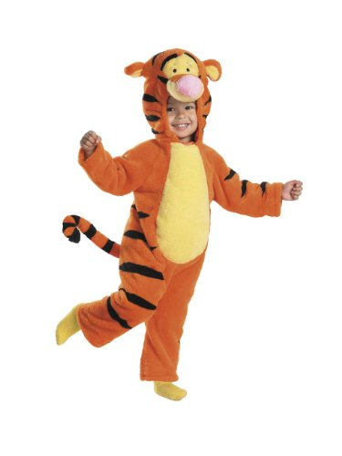 ey Deluxe Tigger Jumpsuit Child Toddler Costume 4-6 ()