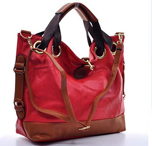 Gyoiamea Z41 ITA, Damen Schultertasche Rot rot Grande larghezza:43cm Altezza:33cm profondità:18cm