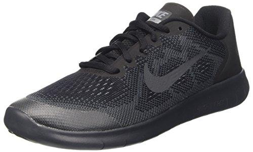 Nike Kinder und Jugendliche Free Rn 2017 (Gs) Laufschuhe, Mehrfarbig (Black/Anthracite/Dark Cool Grey), 36.5 EU