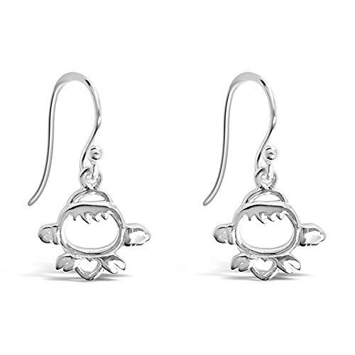 Ohrringe aus Sterling-Silber 925, hängend, Fischhaken, 100% hypoallergen (Yacht Mann Parfüm)