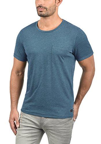 PRODUKT Tomás Herren T-Shirt Kurzarm Shirt Rundhalsausschnitt aus 100% Baumwolle Real Teal