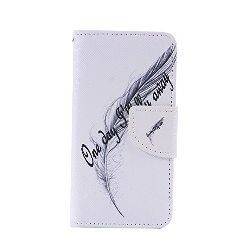Nancen Compatible with Handyhülle BQ Aquaris M4.5 (4.5 Zoll) Handy Lederhülle, Flip Case Wallet Cover with Stand Function, Folio Bookstyle Handytasche
