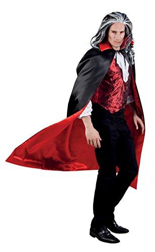 Boland 96935 - Vampirumhang 153 cm, schwarz/rot (Zubehör Erwachsene Kostüm Teufel)