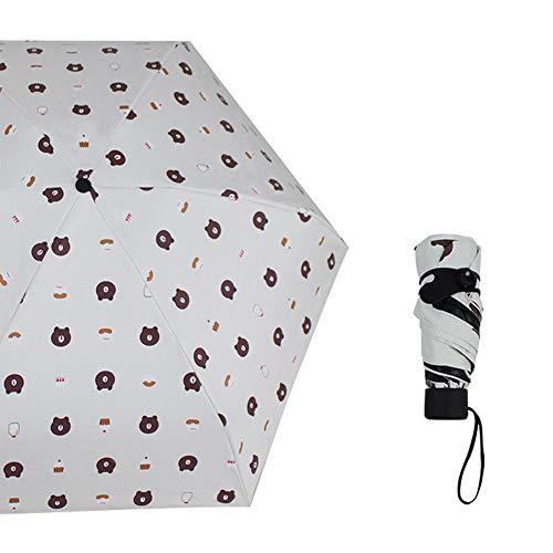 SHILILI Mini Regenschirm Tasche Uv-Schutz Mini Falten Winddicht Licht Travel Lady