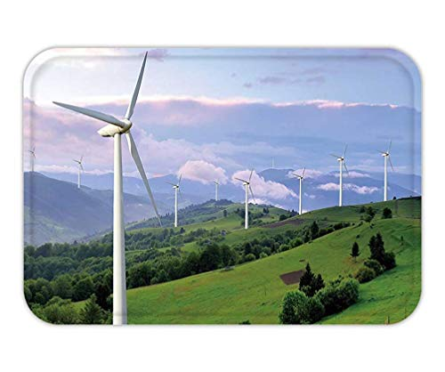CHKWYN Doormat eco Power Wind turbines generating Electricity 15.7X23.6 Inches/40X60cm -