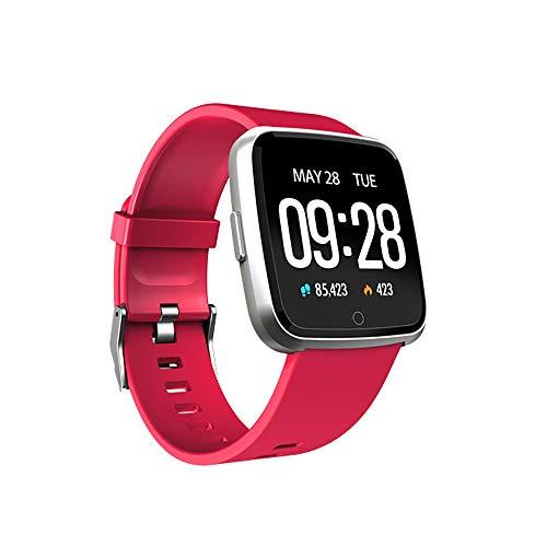 SoloKing Pulsera Inteligente con Multi Modes de Ejercicio,Mide los Pasos,Calorías,Pulsómetros,Monitor de Sueño, Impermeable IP67 Pulsera Reloj Actividad Alertas de Llamadas/SMS/Whatsapp(Rojo)
