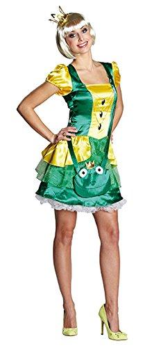 Froschkönig Muster Kostüm - Froschkönigin Faschingskostüm Größe 42