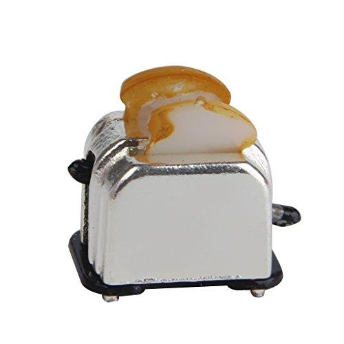 Isuper 1: 12Miniatur Brotbackautomat der Puppenhaus mit Die Scheiben von Brot 1S-Topf der Küche