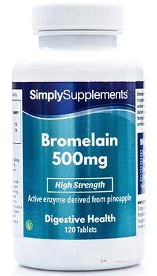 Bromelina 500mg - Allevia il dolore e la rigidità delle articolazioni - 120 capsule - 4 mesi di trattamento - Simply Supplements