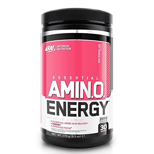 Optimum Nutrition ON Amino Energy Pre Workout Booster Pulver mit Beta Alanin, Koffein, Grüntee Extrakt, Aminosäuren und Vitamin C, Keto Freundlich, Zuckerfrei, Watermelon, 30 Portionen, 270g
