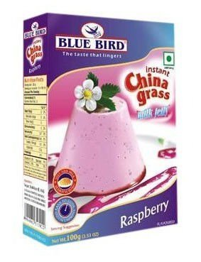 Blue Bird Instant China Grass Milk Jelly Raspberry 100GM (Pack Of 3)