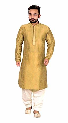 Herren Indian Sherwani Gold Kurta Shalwar Kameez für Bollywood Thema & Kostüm Party London 808 - Gold, 40 (L - UK)