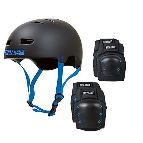 TONY HAWK Skateboard Helmet Elbow/Knee/ Pad Combo MEDIUM Bmx Inline CPSC
