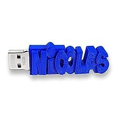Idea Regalo - Chiavetta USB personalizzata con il tuo testo - il colore di tua scelta - 8 Go, 16 Go o 32 Go - un regalo originale e unico