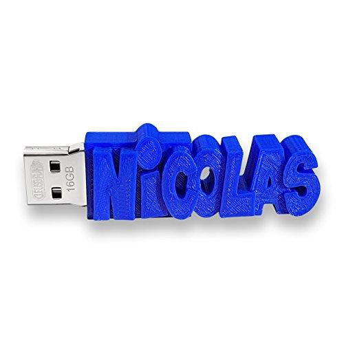 Personalised USB Dongle Flash Drive Memory Stick, 8GB, 16GB or 32GB